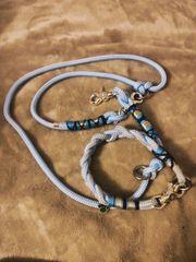 Leine Halsband Tau Blau
