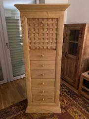 Schrankwand Holz massive