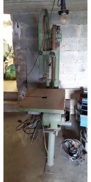 alte Ständerbohrmaschine Hobelmaschine und Bandsäge