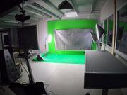 Greenscreen - Raum Film- und Fotostudio -