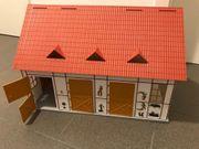Spiel-Pferdestall für Schleich- Playmobil-Figuren