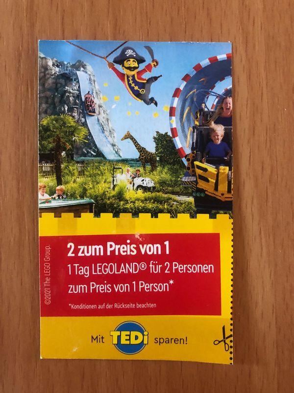 Legoland Eintrittskarte 2 zum Preis