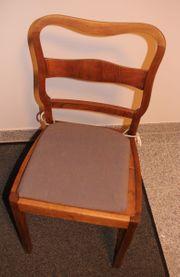 Antiker Stuhl Eiche massiv zu