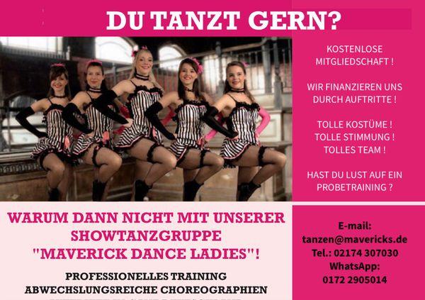 Tänzerinnen für Show-Tanz-Gruppe gesucht