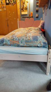Kinderbett Jugendbett für Mädchen Holz