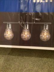 Lampe 3flammig Leuchtstäbe NEU OVP