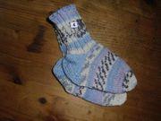 Handgestrickte Socken Gr 20 21