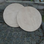 Holzplatten Tischplatte Rund Durchmesser 70cm