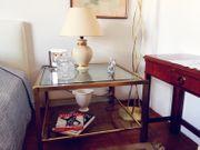 Vintage - Edler hochwertiger Glastisch mit