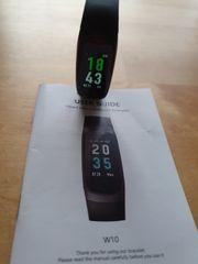 W10 Fitnesstracker mit Pulsmesser Blutdruckmesser