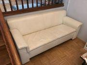 Ledersofa Weiß 2-Sitzer wenig benutzt