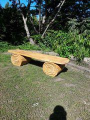 Gartenbänke Loggia massiv Holzbänke aus