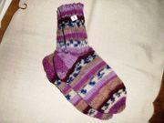 Handgestrickte Socken Gr 24 25