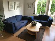 Couch-Kombination mit Federkern-Kissen