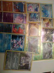 13 Pokemon Sammelkarten- Holo- Reverse