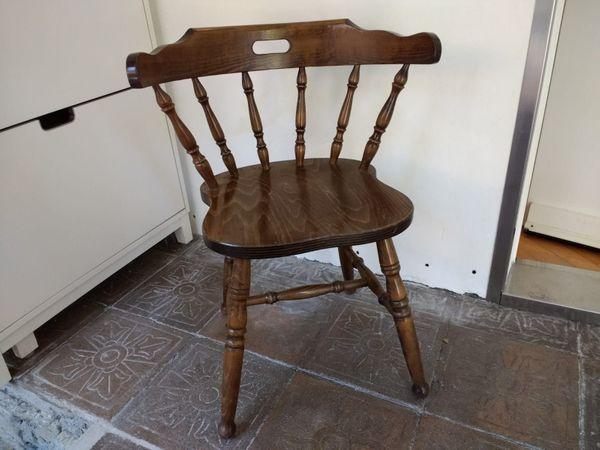 3 Vollholzstühle - gedrechselt