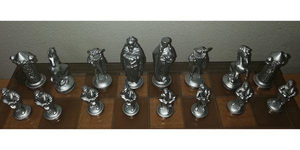 Zinn Schachfiguren