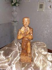 Priester Mönch Figur Holz Handarbeit