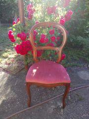 wunderbarer Stuhl - altrosa - Unikat - sehr