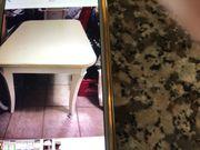 Esstisch cremeweiss aus Holz 120x84x74