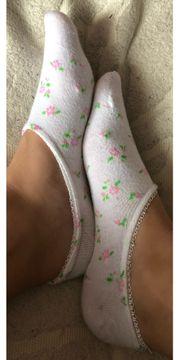 Getragene Füßlinge Socken
