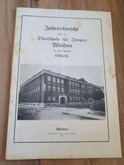Jahresbericht Oberschule Weiden 1940 41
