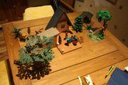 Playmobil Jäger Waldhaus Waldtiere und