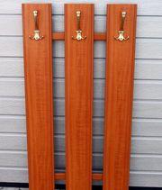 Garderobe Wandgarderobe Holz Messing KL