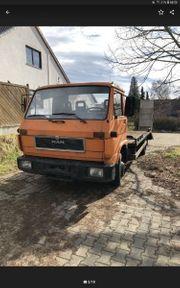 MAN 8 150 Abschleppwagen Baumaschinen