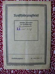 DKW Auto Union Kfz-Brief von