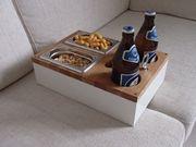 Sofa Tablett aus Eiche - Bier Kiste