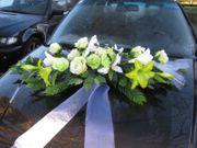 Autoschmuck Hochzeit Autogesteck Brautkleid