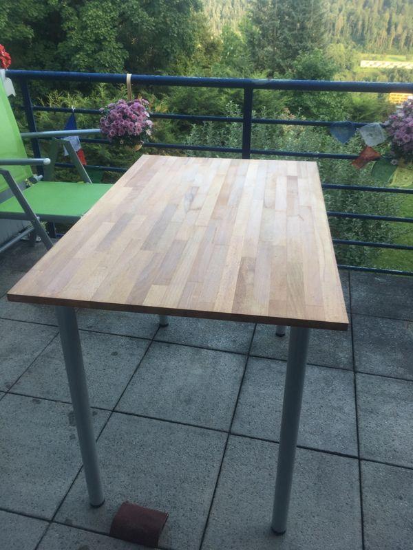 Schreibtisch aus feiner holzplatte geölt