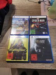 PS5 Spiele Village Spiderman cyberpunk