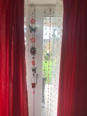 Edler Vorhang Stoff Rot Länge