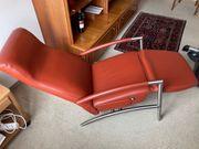 Relax Fernseh Sessel Leder rostrot