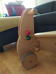 Kinder Holzfahrzeug inkl Anhänger
