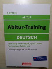 Abiturvorbereitung Deutsch Bayern - Trainingsaufgaben