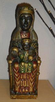 ALTE Heiligenfigur Madonna ca 30cm