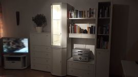 Wohnzimmerschränke, Anbauwände - Wohnwand Musterring weiß lackiert nicht