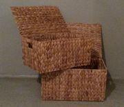 Aufbewahrungskörbe mit Deckel aus Seegras