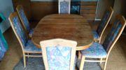 Esszimmertisch m 6 Stühlen