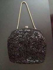 Vintage Abendhandtasche mit Perlen bestickt
