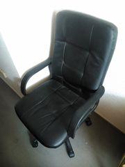 Bürodrehstuhl Chefsessel schwarz