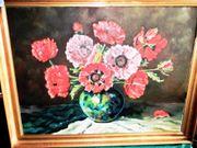 Ölbild auf Leinwand Mohnblumen mit
