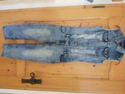 Overall Hose Jeans Usedlook Gr