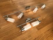 2 Zimmerlampen 4x11W 2x11W - Schienensystem