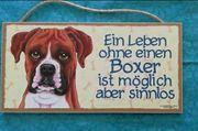 Boxer Türschild Deko Hund