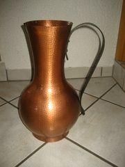 Kupferkanne Kupfervase Henkelkrug Schirmständer Bodenvase -
