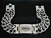 Armband aus Edelstahl massiv Harley